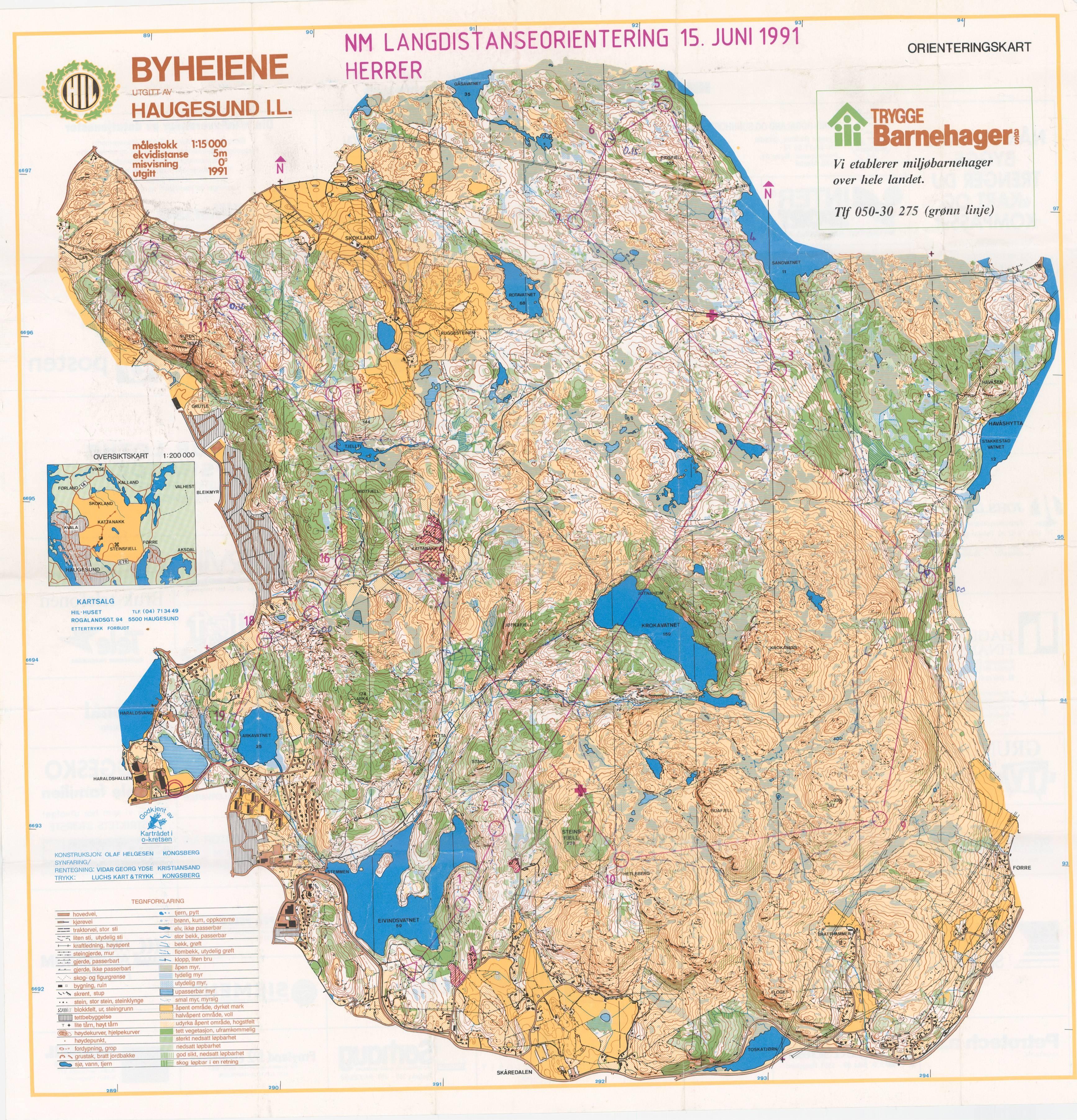 byheiene haugesund kart Digitalt Kartarkiv :: NM Lang (15.06.1991) byheiene haugesund kart