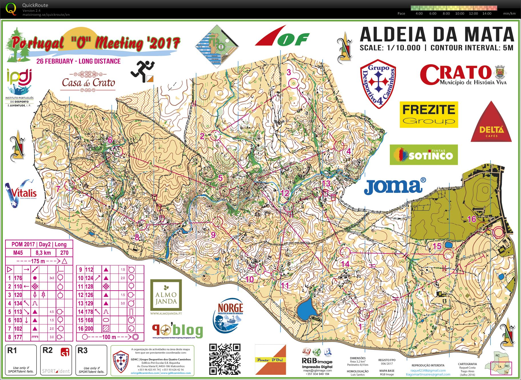 POM February Th Orienteering Map From Gjermund - Crato map